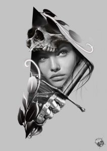 tattoo idea woman with sword