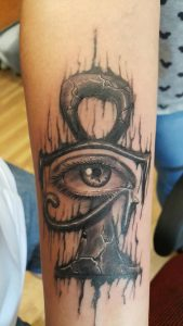 realistic all seeing eye tattoo on arm