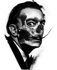 salvador dali skull tattoo idea