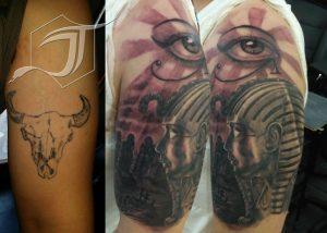 pharaoh cover up tattoo idea